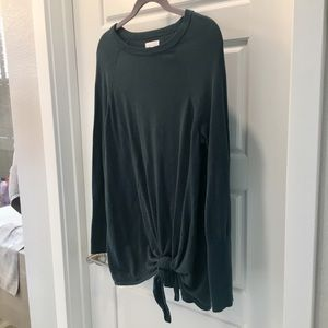 LC front knot sweater